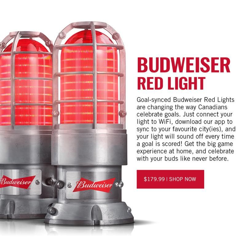 Budweiser Red Light Shop Beer Gear Light Red Shop Lighting
