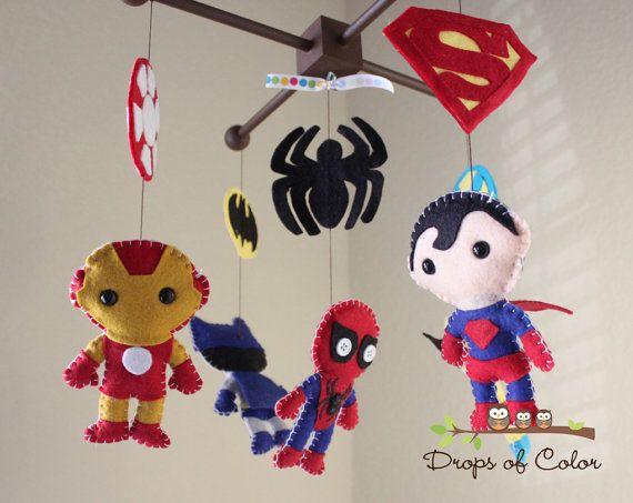 Bebé móvil bebé cuna Super héroe móvil vivero Super | Home ...