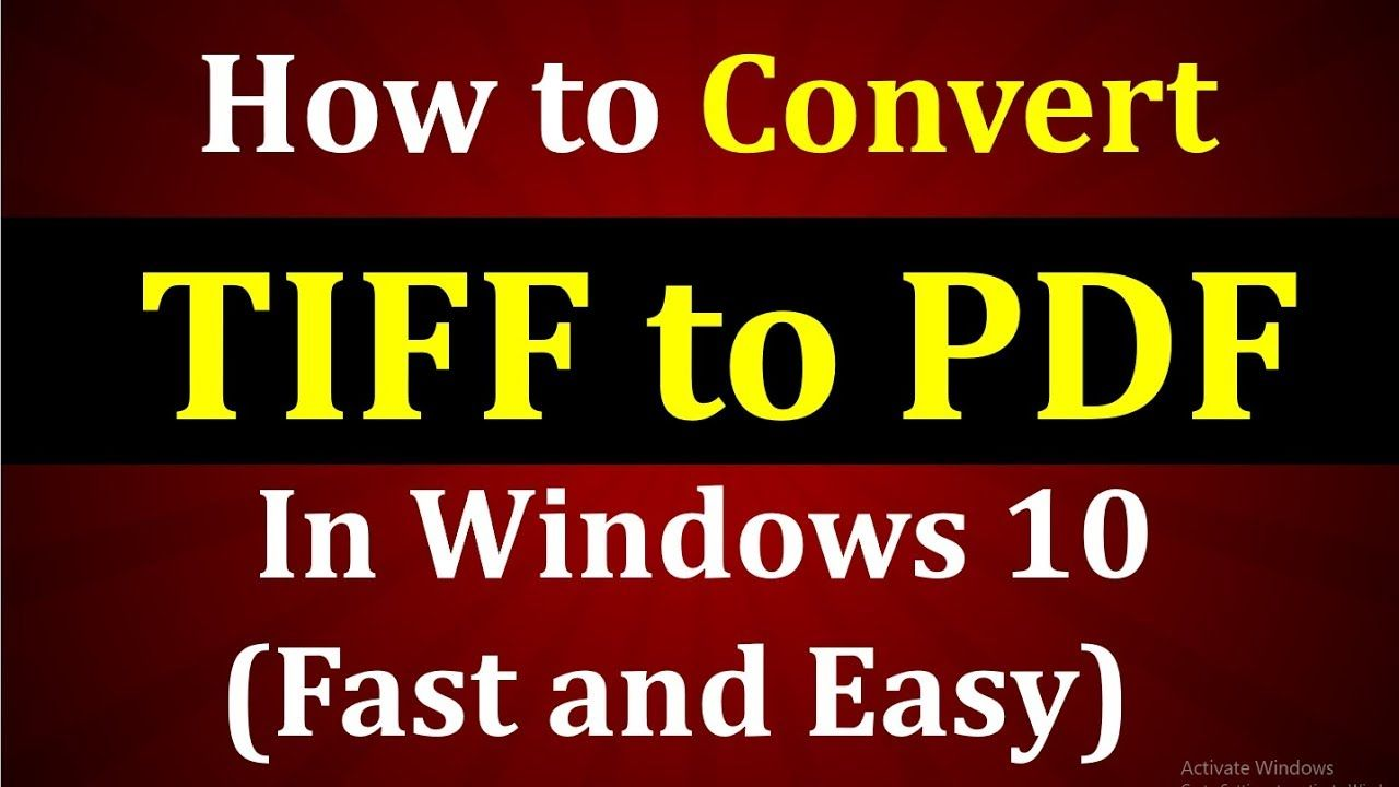 Convert tiff to pdf free? Learn in this video how to