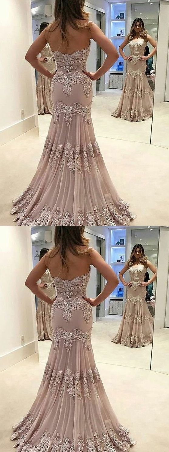 Strapless sweetheart neck vintage lace mermaid prom dresses apd
