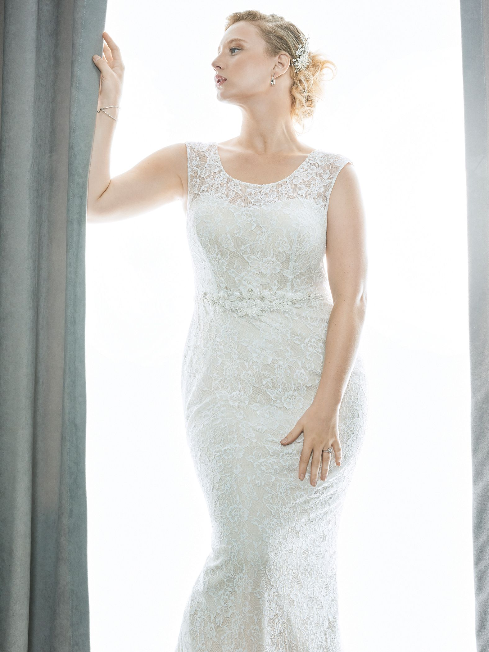 Femme by kenneth winston style romantic lace bridal dress