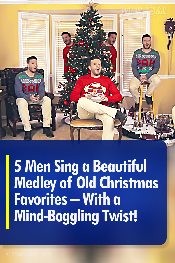 7 Men Sing 5 Acapella Christmas Songs With A Mind Boggling Twist With Images Christmas Music Videos