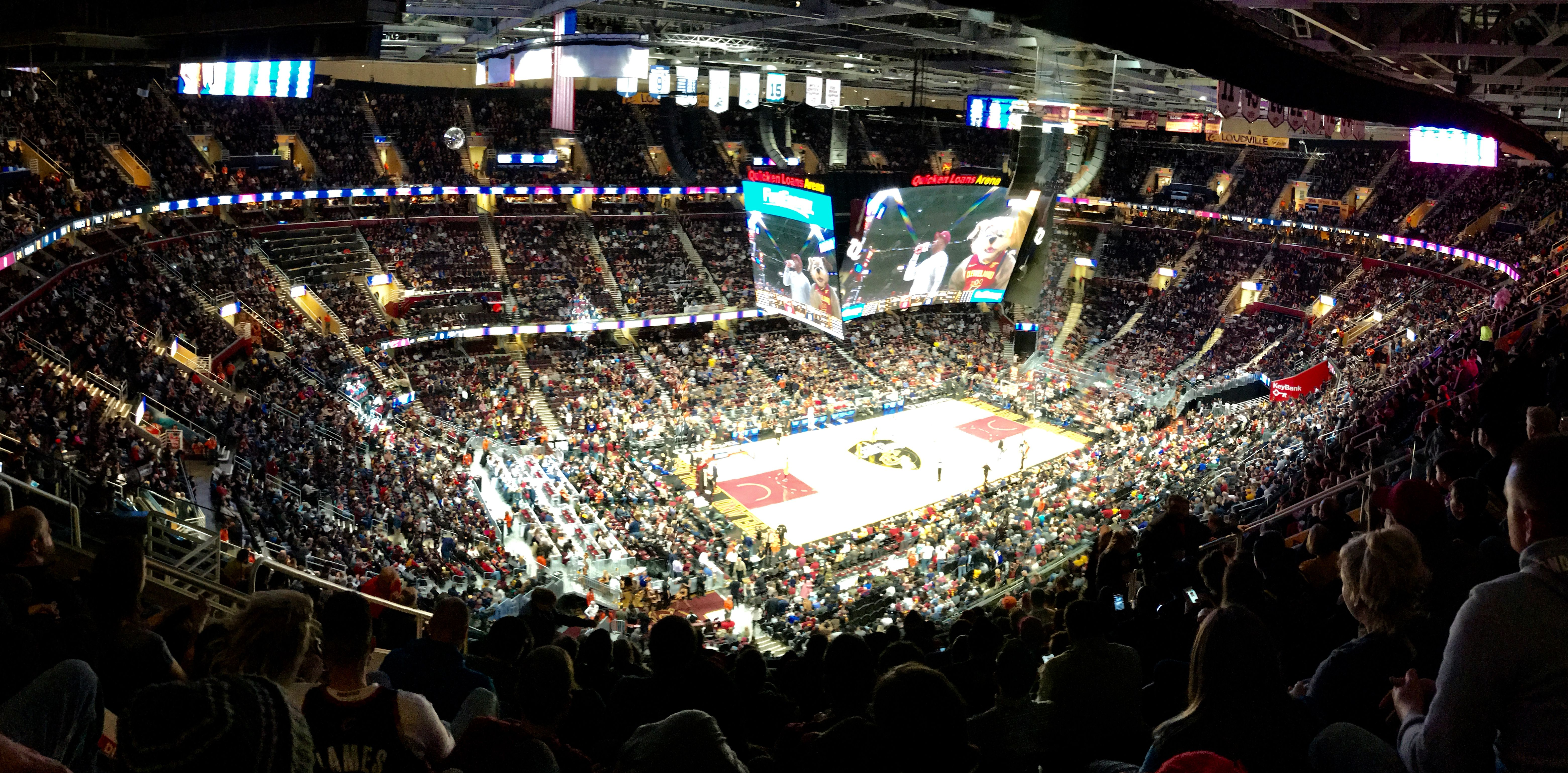 Panorama View Of Quicken Loans Arena Cleveland Cavaliers Vs Indiana Pacers 2018 Quicken Loans Arena Iphone Pictures Panorama