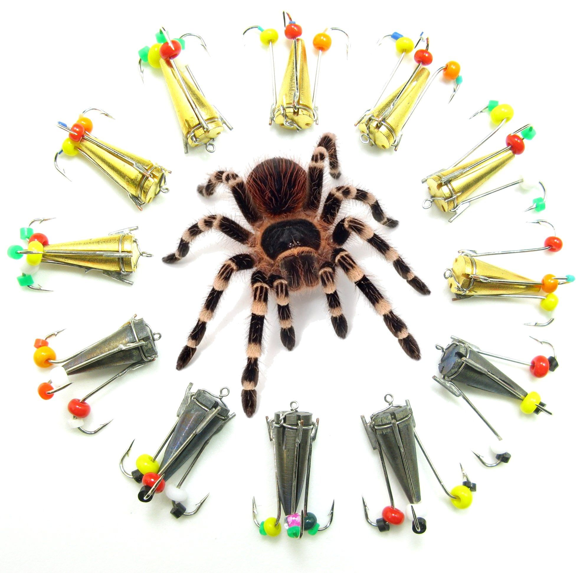 Bentley fishing tarantula jigs click on image to enlarge for Ice fishing lures for panfish