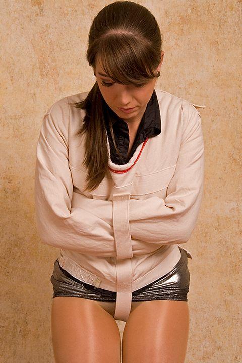 Girls in straight jacket