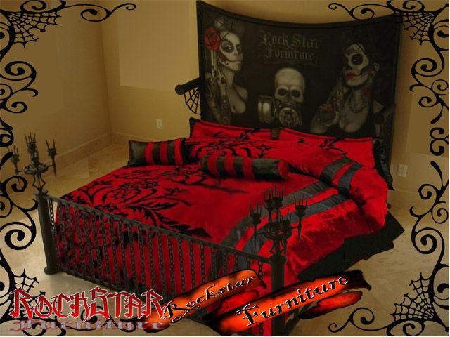Ordinaire Rockabilly Rockstar Custom Bed | Rock Star Furniture