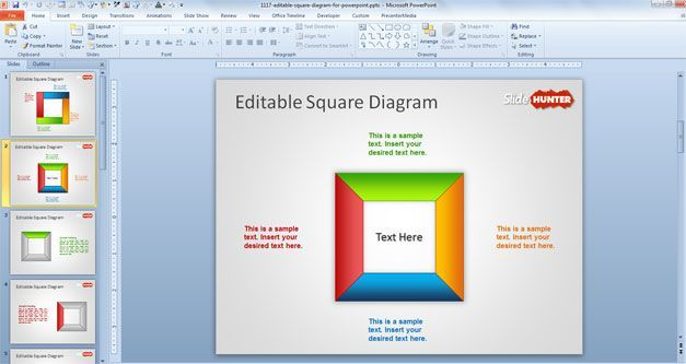 square powerpoint template free download diagram nice stuff - sample sales tracking