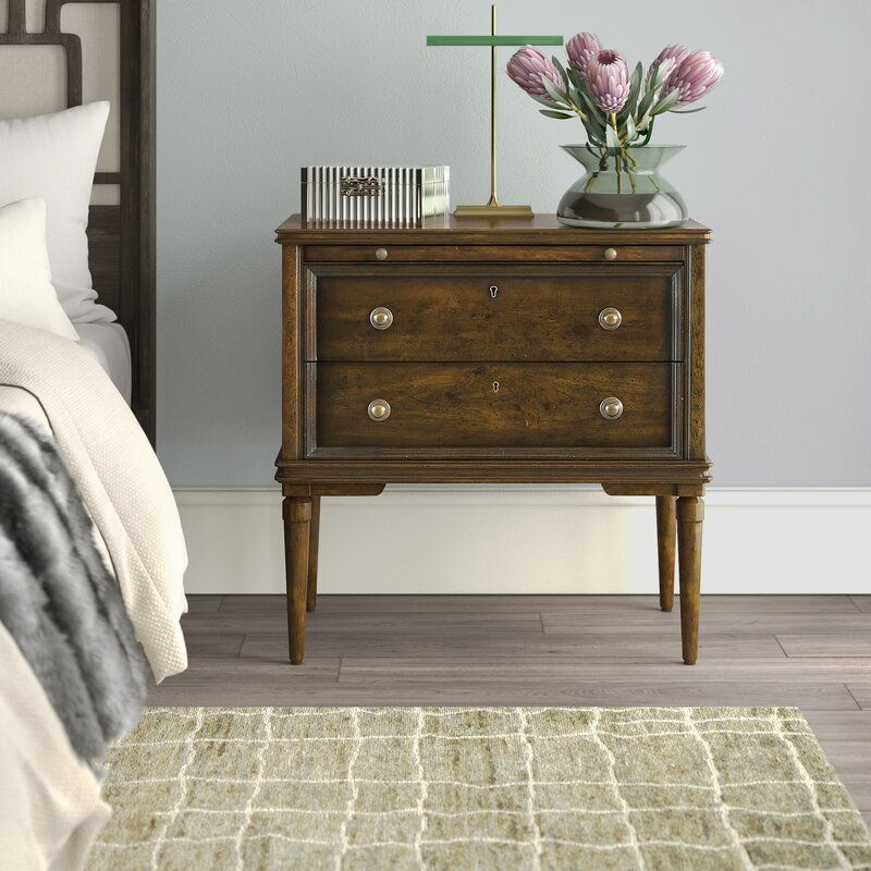 Drawer Solid Wood Nightstand, Stanley Furniture Reviews