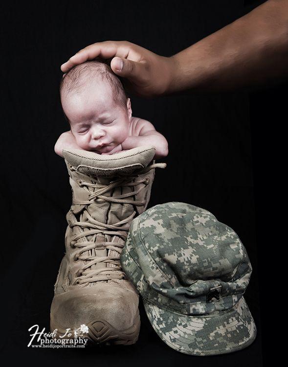 Heidi jo photography sleeping newborn in army camo 002