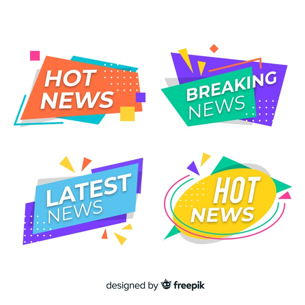 Download Colorful Origami Latest News Banner Pack For Free Desain Banner Desain Grafis Desain