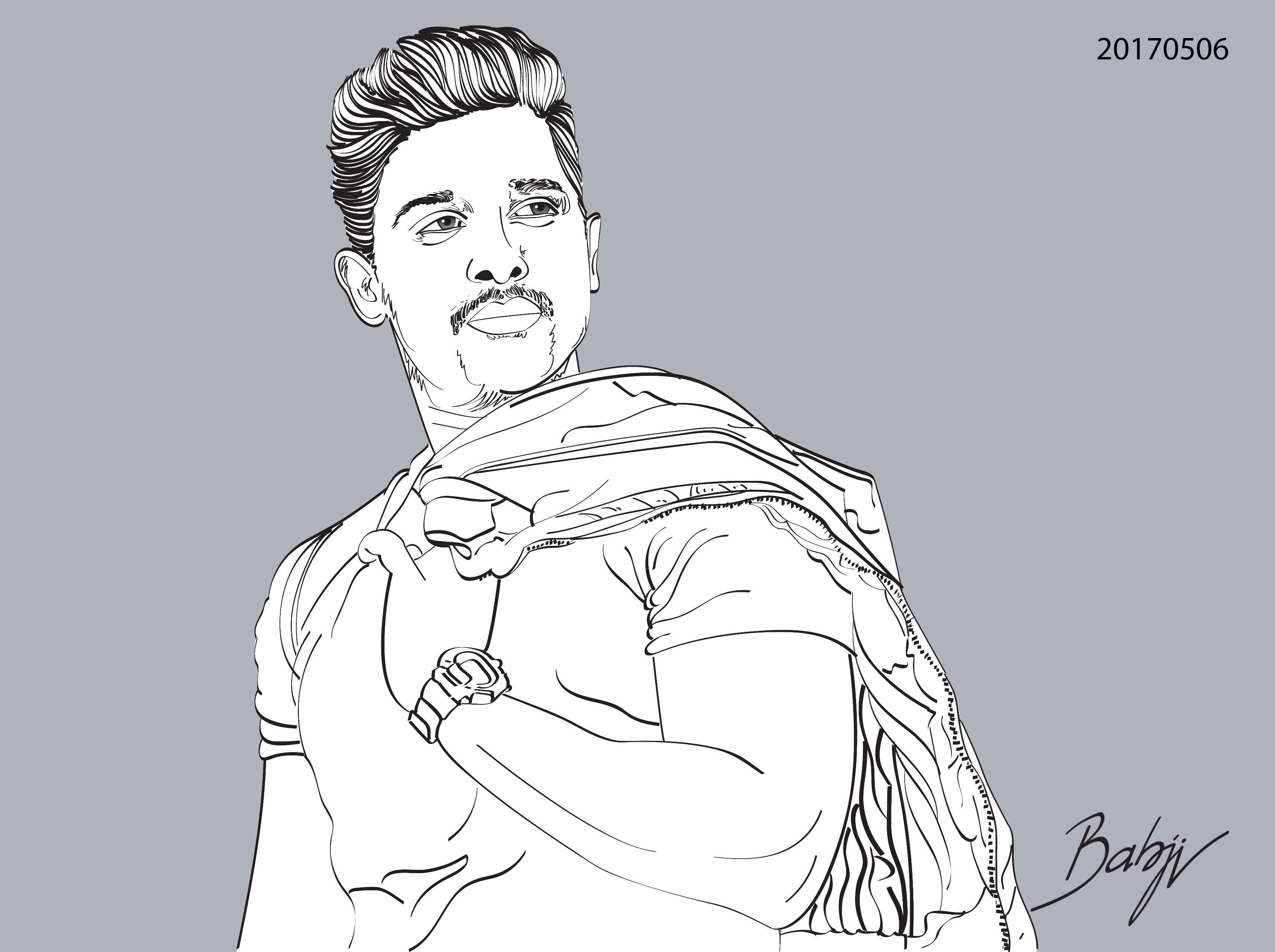 Allu arjun portrait drawings in 2019 pencil shading drawings