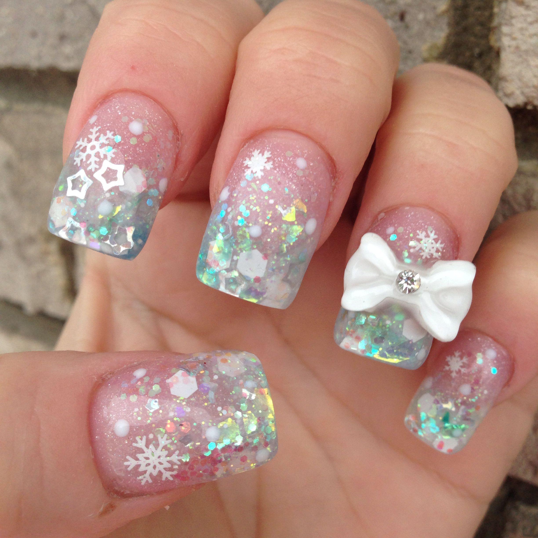 Snow acrylic nails Acrylic nails Pinterest Acrylics Snow and