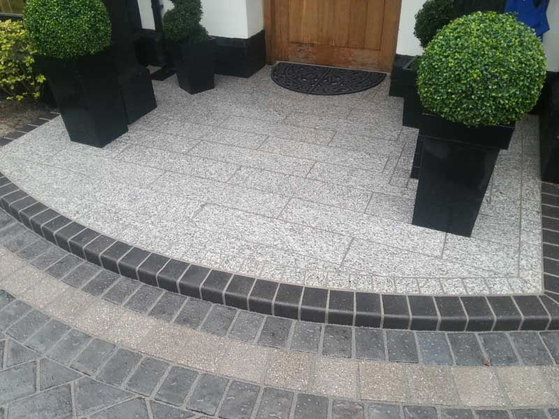 New Step Constructed Using Marshalls Eclipse Granite With A Bespoke Border Detail Stone Driveway Front Garden Outdoor Decor