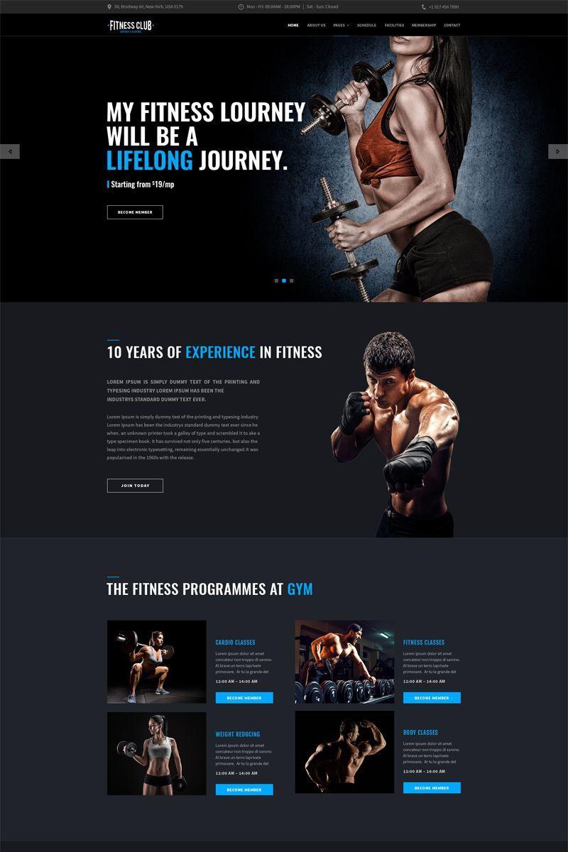 Fitness Club Landing Page Template Landingpage Club Fitness Landing Fitnessclubwebsite Fitness Club Fitness Web Website Design