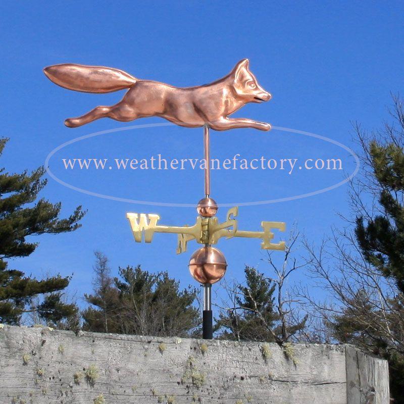 Copper Fox Weathervane Weathervane Factory 800255