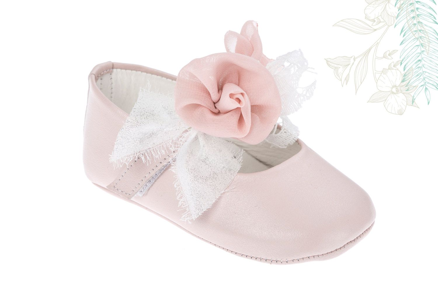0b97ba42f Crib shoes Leather baby shoes Baby girl shoes Handmade shoes Baby ...