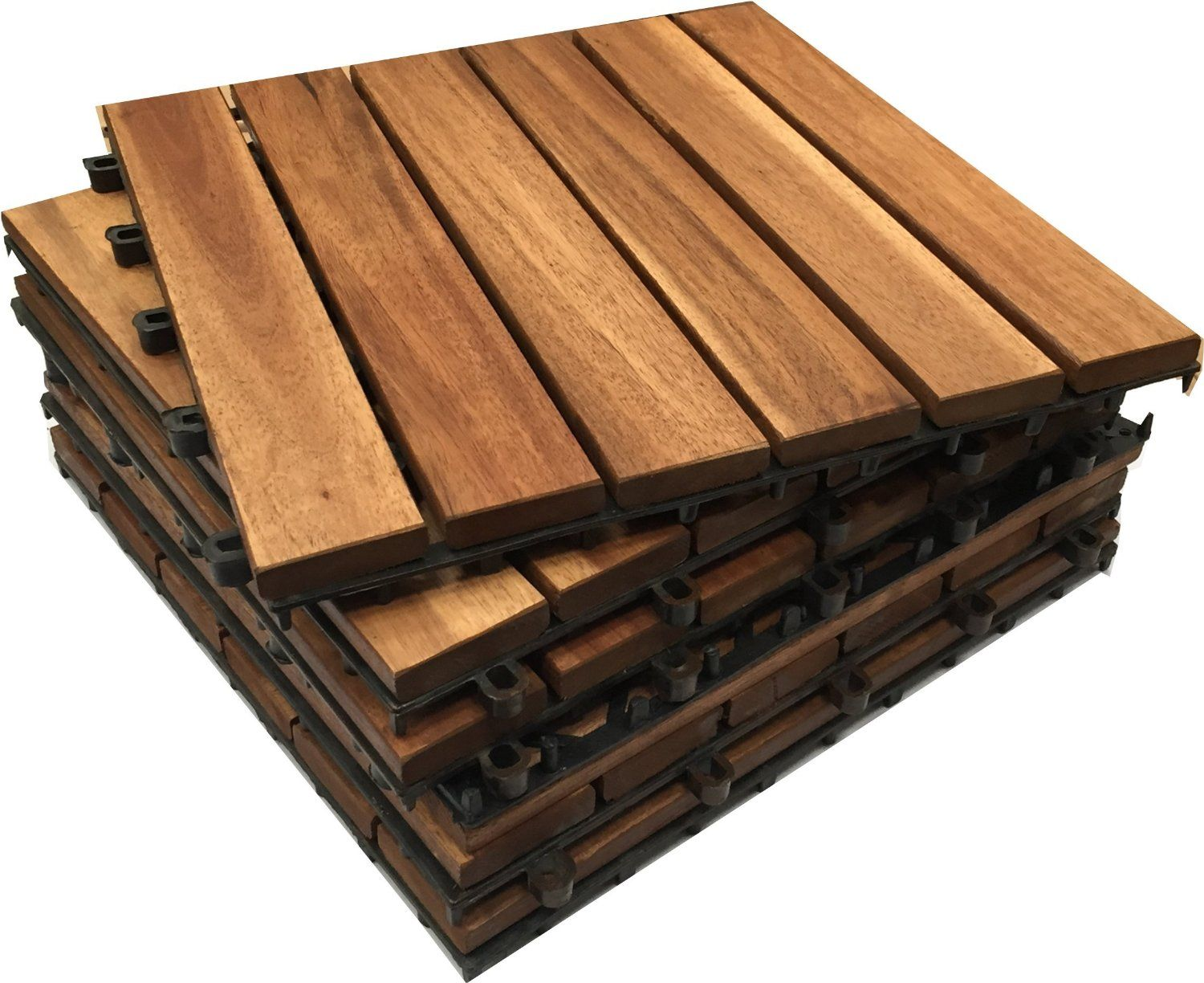 Wood Deck And Patio Interlocking Tiles ~ Wooden interlocking acacia hardwood decking tiles