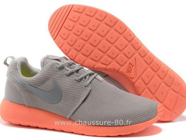 Nike Roshe Run Chaussure pour Homme Gris Orange Baskets Nike Roshe Run