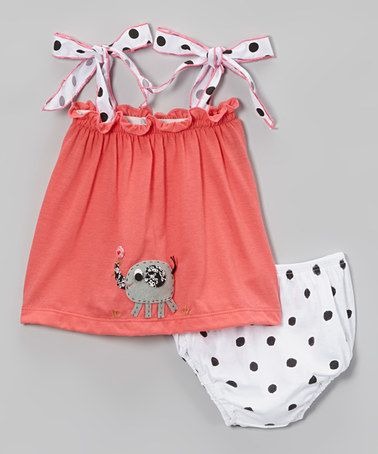 Love this Red Elephant Tie-Strap Top & Diaper Cover - Infant & Toddler on #zulily! #zulilyfinds