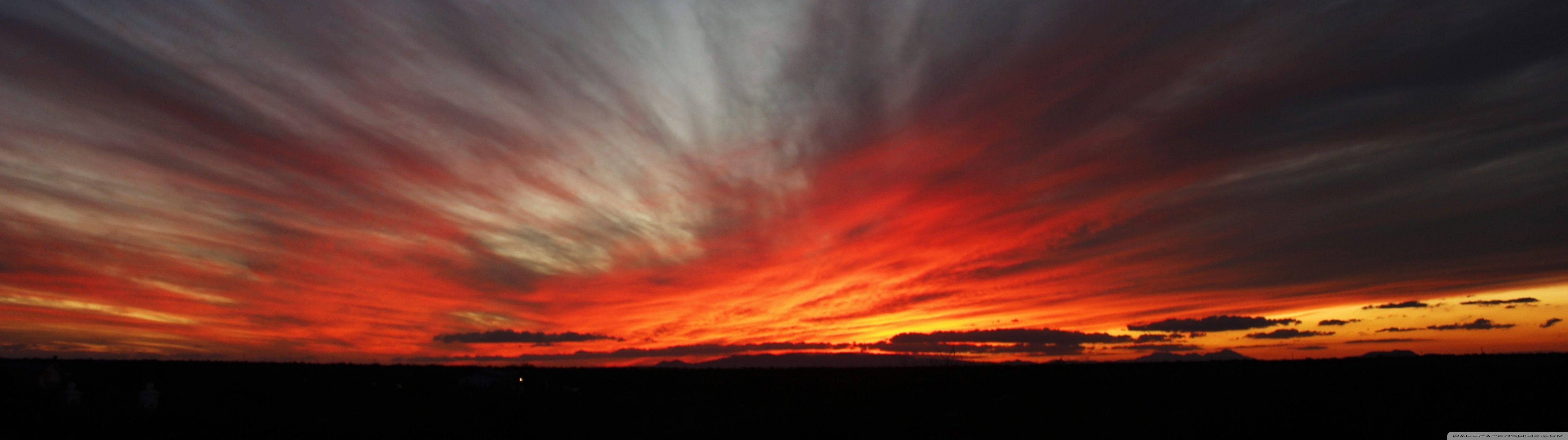 5120 X 1440 Wallpaper Panorama Arizona Sunset Scenic