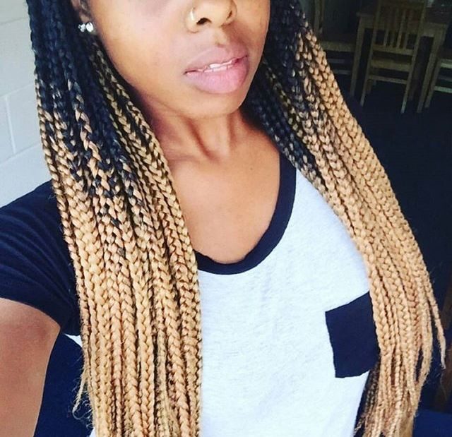 Blonde Ombre Box Braids Get This Color Braiding Hair Here Http