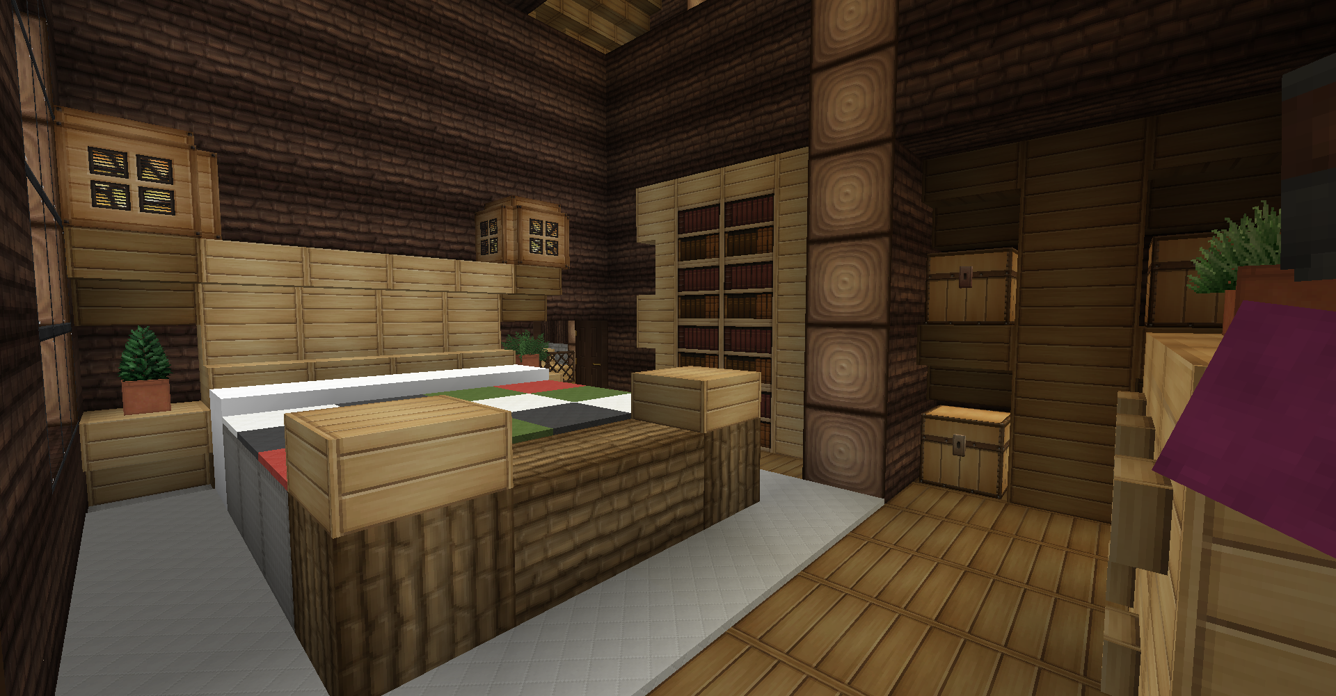 master bedroom minecraft minecraft survival log cabin interior master bedroom 12301