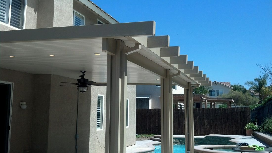 White Aluminum Small Patio Cover Decoraci 243 N Del Hogar