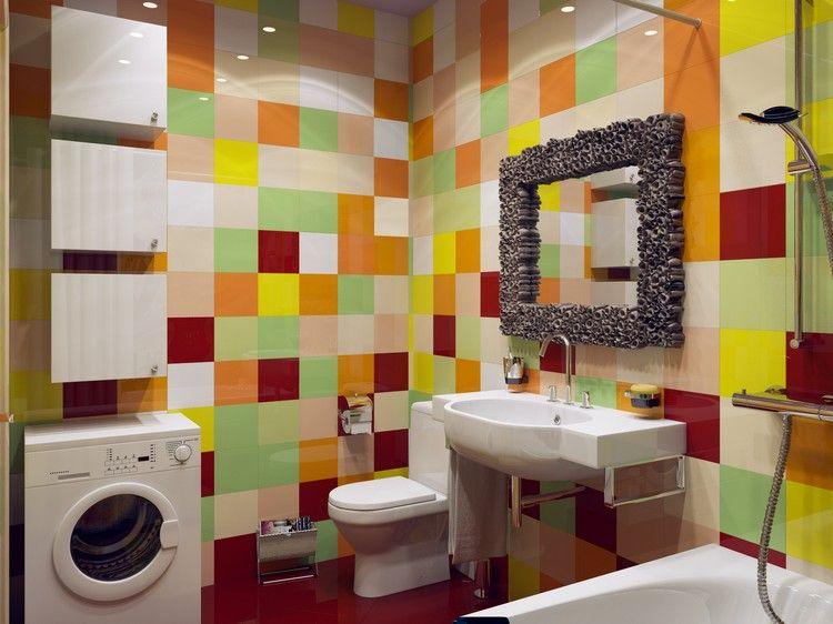 mobilier salle bain design, armoires de rangement blanc laqué et