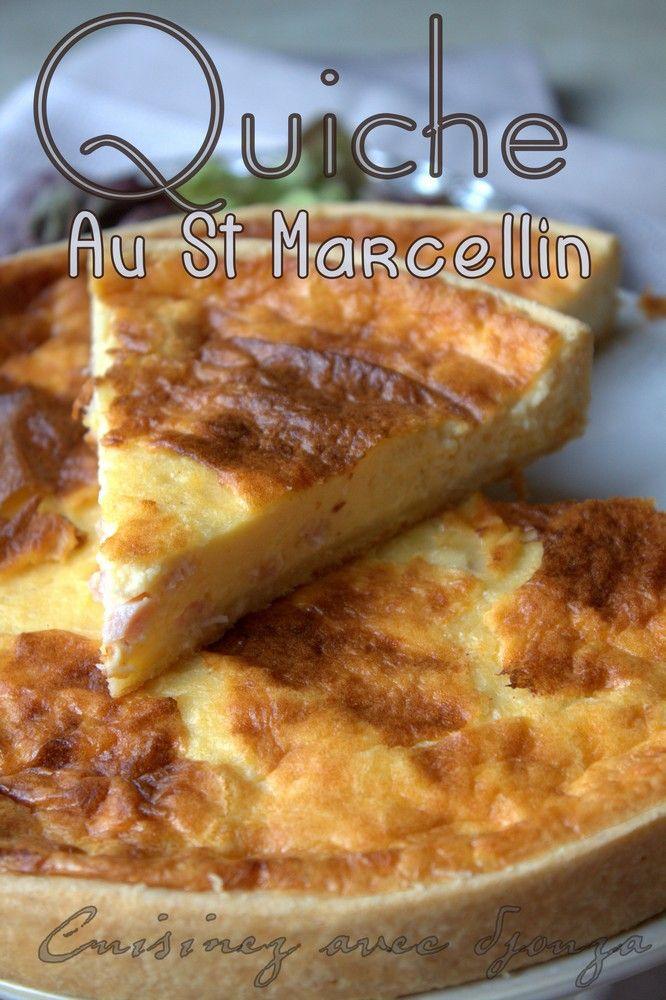 Quiche au st marcellin et au poulet recette recette - Recette de cuisine quiche au poulet ...