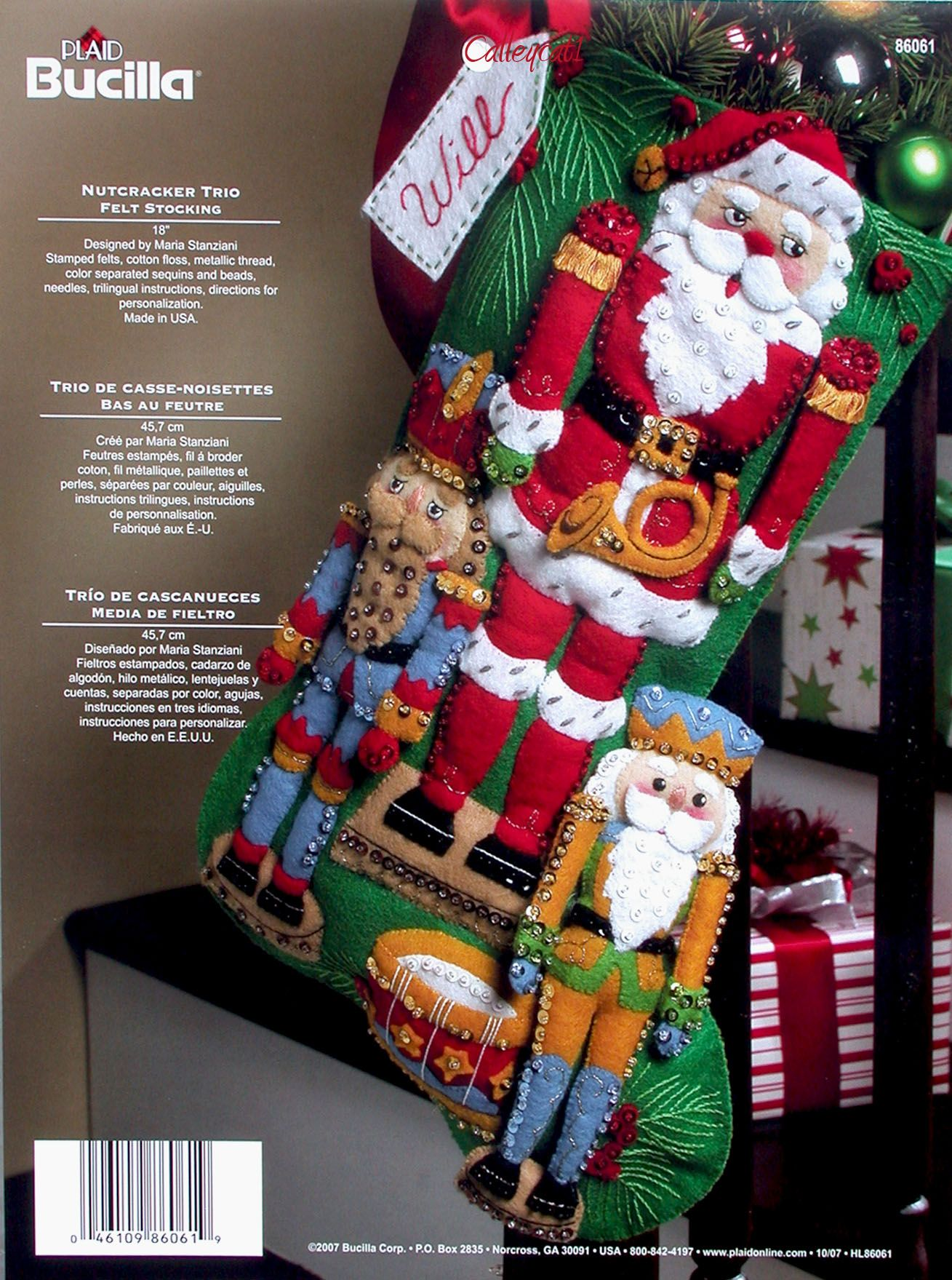 Knitted Christmas Stocking Kits Bucilla
