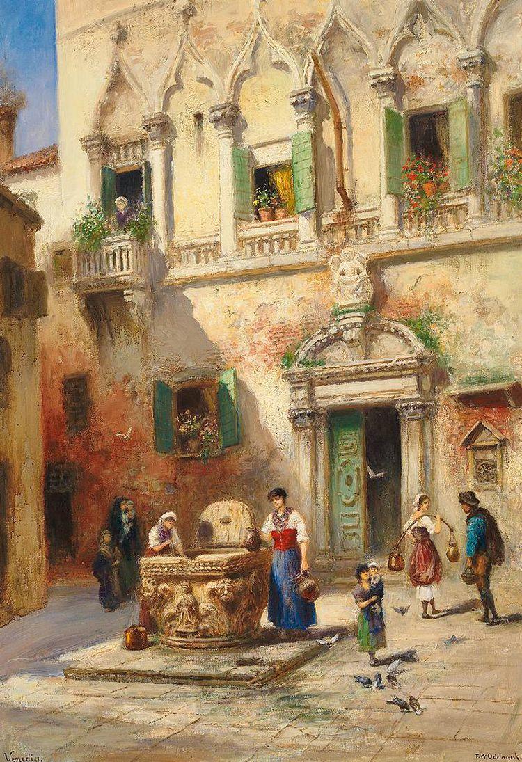 Frans Wilhelm Odelmark ~ Canal Grande Venedig | Paintings, Turkish ...