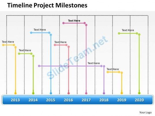 Management Consultant Business Timeline Project Milestones - powerpoint calendar template