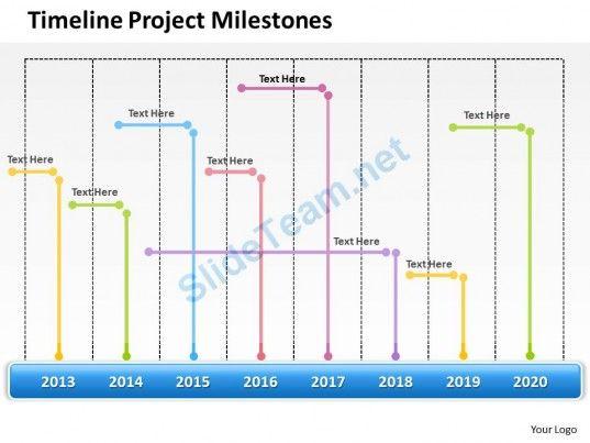 Management Consultant Business Timeline Project Milestones