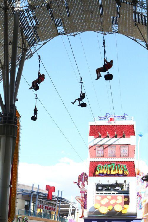 Slotzilla Zipline- Fremont Street Experience- The lower Zipline is ...