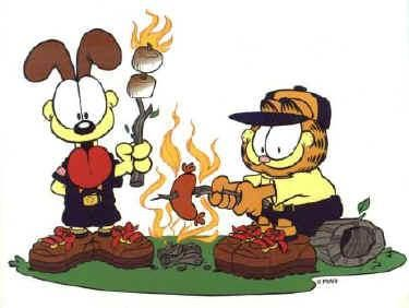Garfield Cub Scout And Odie Campfire