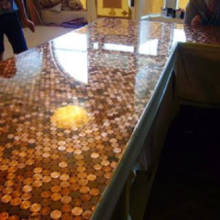 Awesome Penny Countertop In The Middle Of This Project Right Now