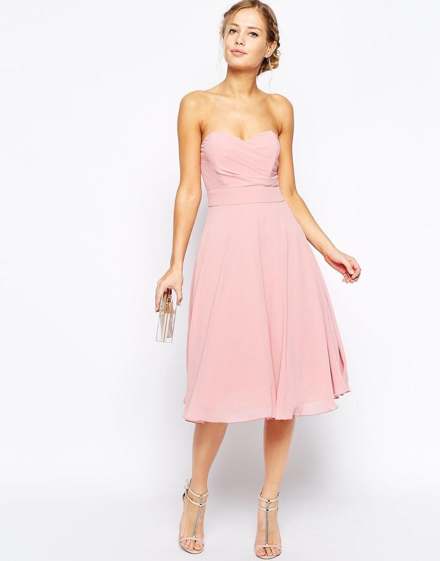 vestidos-rosa-escotado | Nice | Pinterest | Dress fashion, Nice and ...