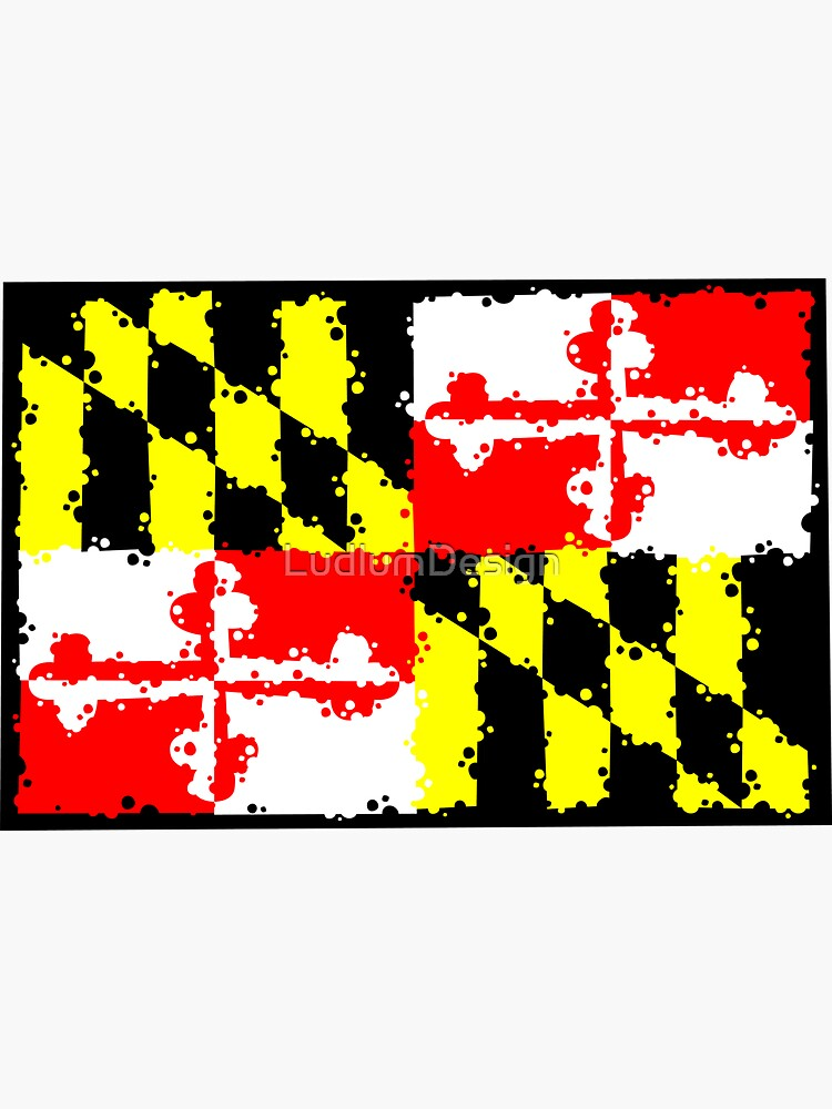 Maryland Flag Graffiti Sticker By Ludlumdesign Redbubble Maryland Flag Graffiti Flag