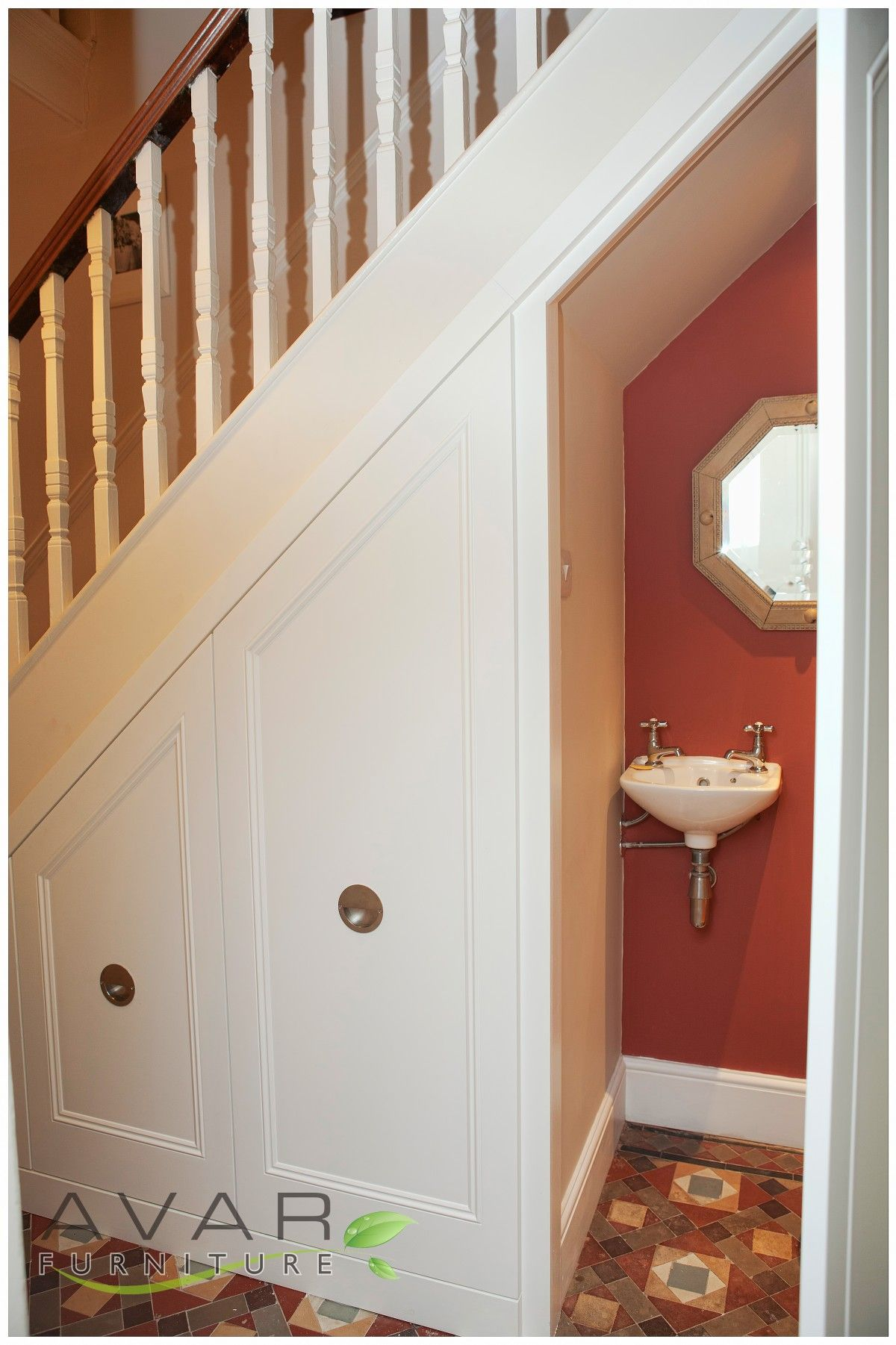 07 traditional style under stairs unit from avar furniture - Bathroom Designs Under Stairs