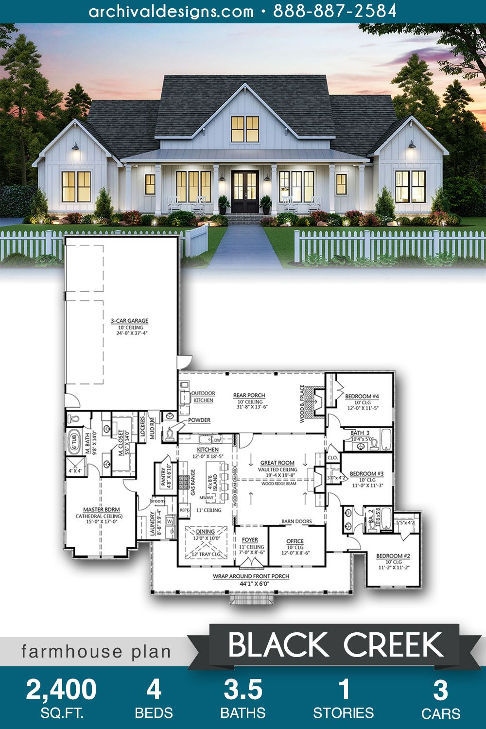 Black Creek House Plan In 2020 House Plans Farmhouse House Plans Family House Plans