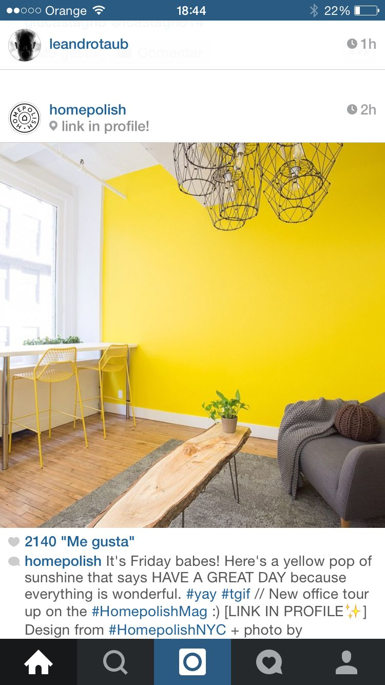 Pared amarilla eclectic decor colorful interiors color interior madrid yellow painting