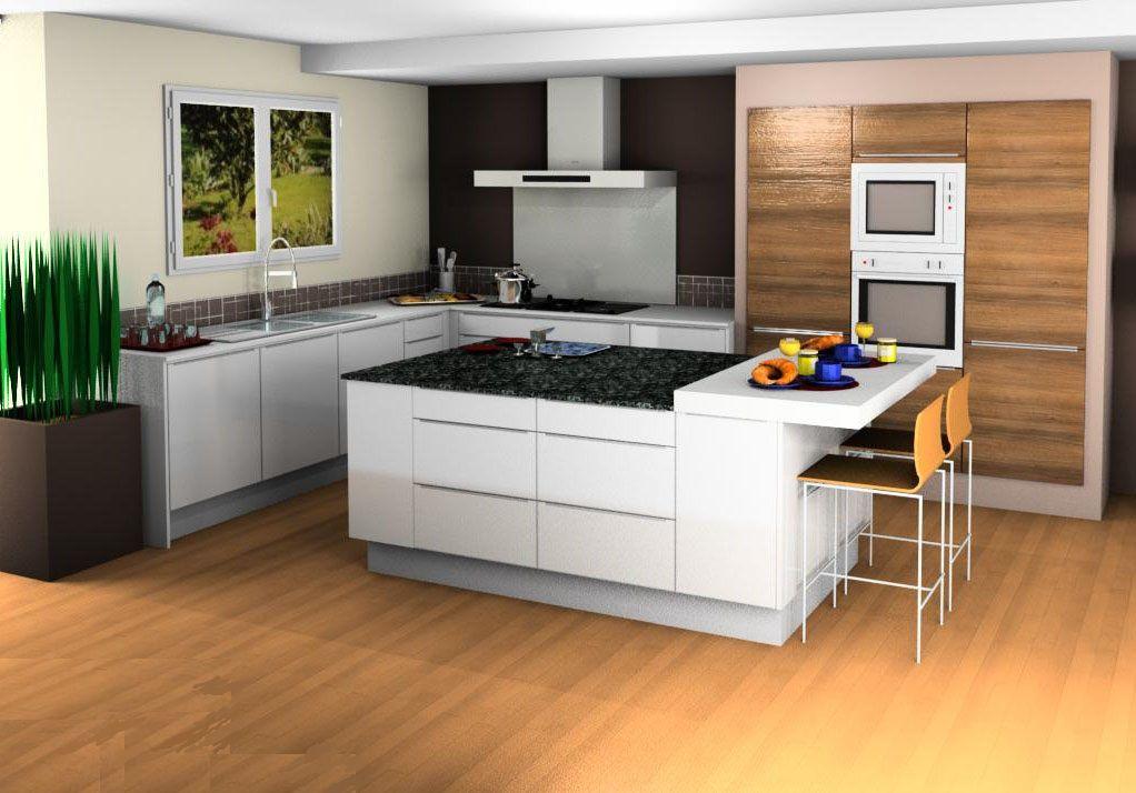 Attractive Plan Cuisine En 3D #8: Cuisine 3d