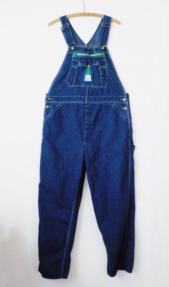 0192e0d7716 Vintage Men s Overalls Liberty Bib Coveralls Work Wear 40 x 30