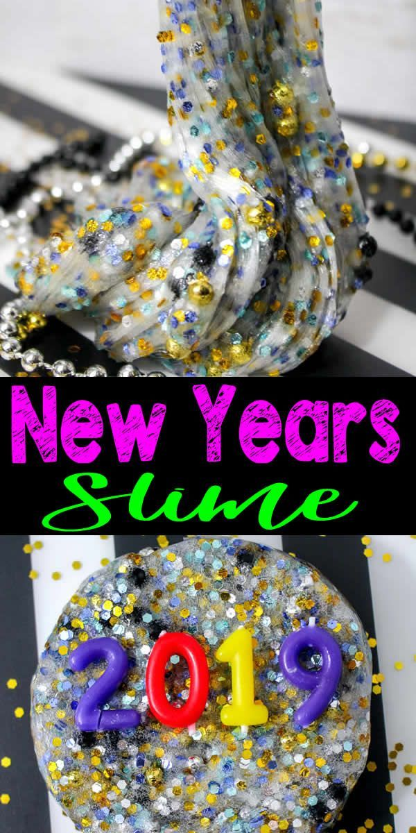 DIY Party Slime – How To Make Homemade Sparkle Slime – Easy & Fun Recipe For Kids – New Years Slime – New Years Eve Activities – Party Favors – Gold & Silver Slime