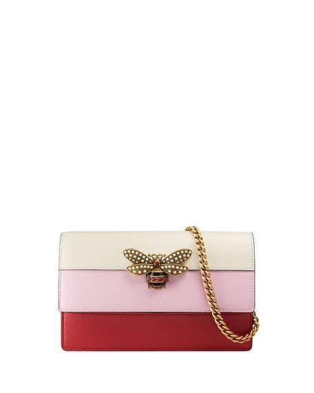 dab1ea76375 Queen Margaret Bee Colorblock Wallet-on-Chain Hibiscus Red/Light ...