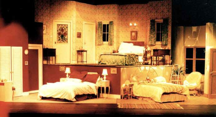 Pin By Stage West Theatre On Bedroom Farce Iron Bed Scene