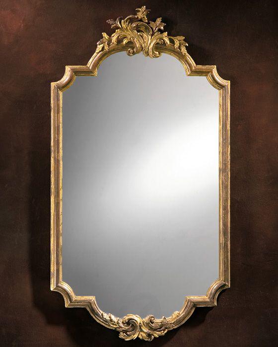 Mirror baroque mirror baroque framed mirror in for Baroque bathroom mirror