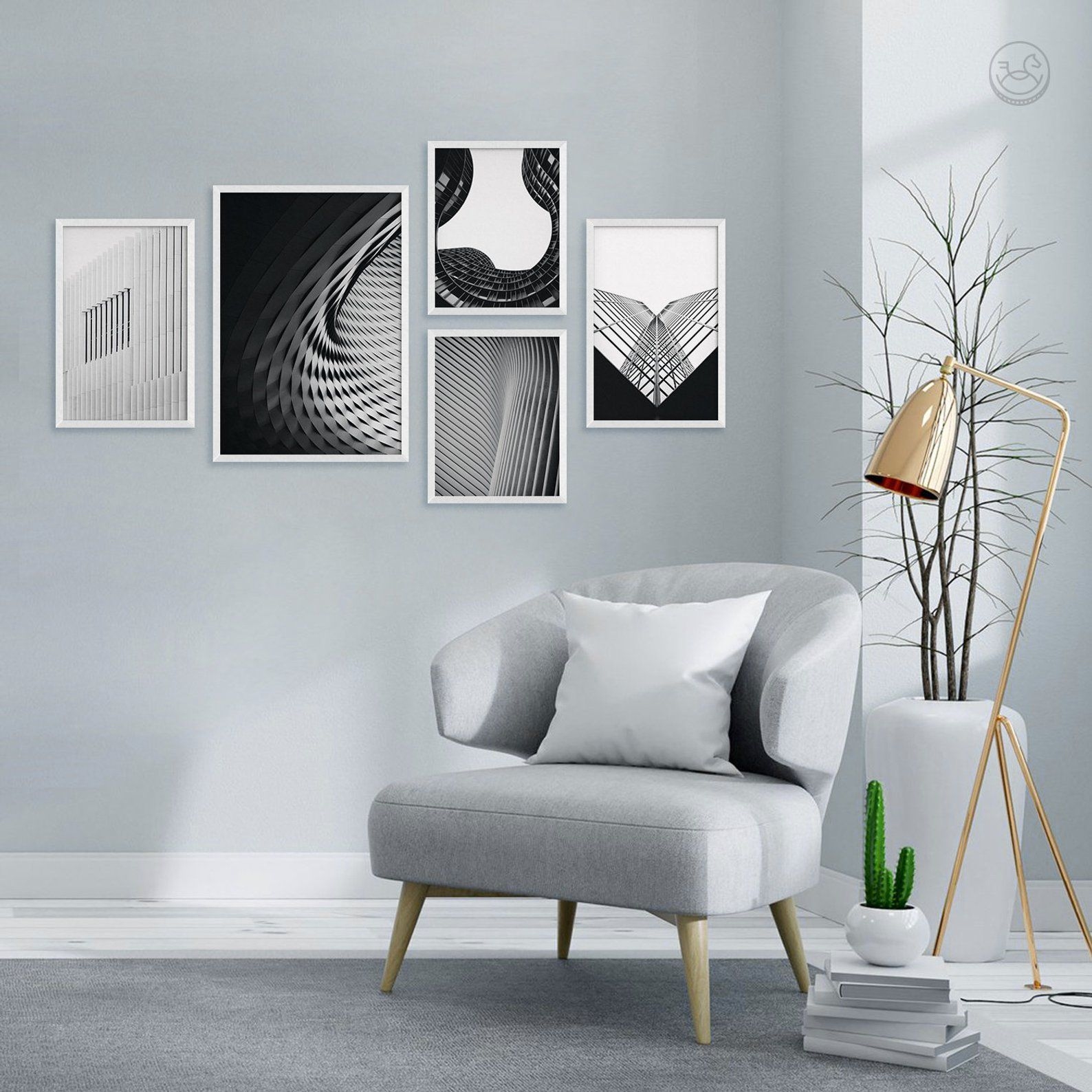Abstract wall gallery set printable wall art photography office