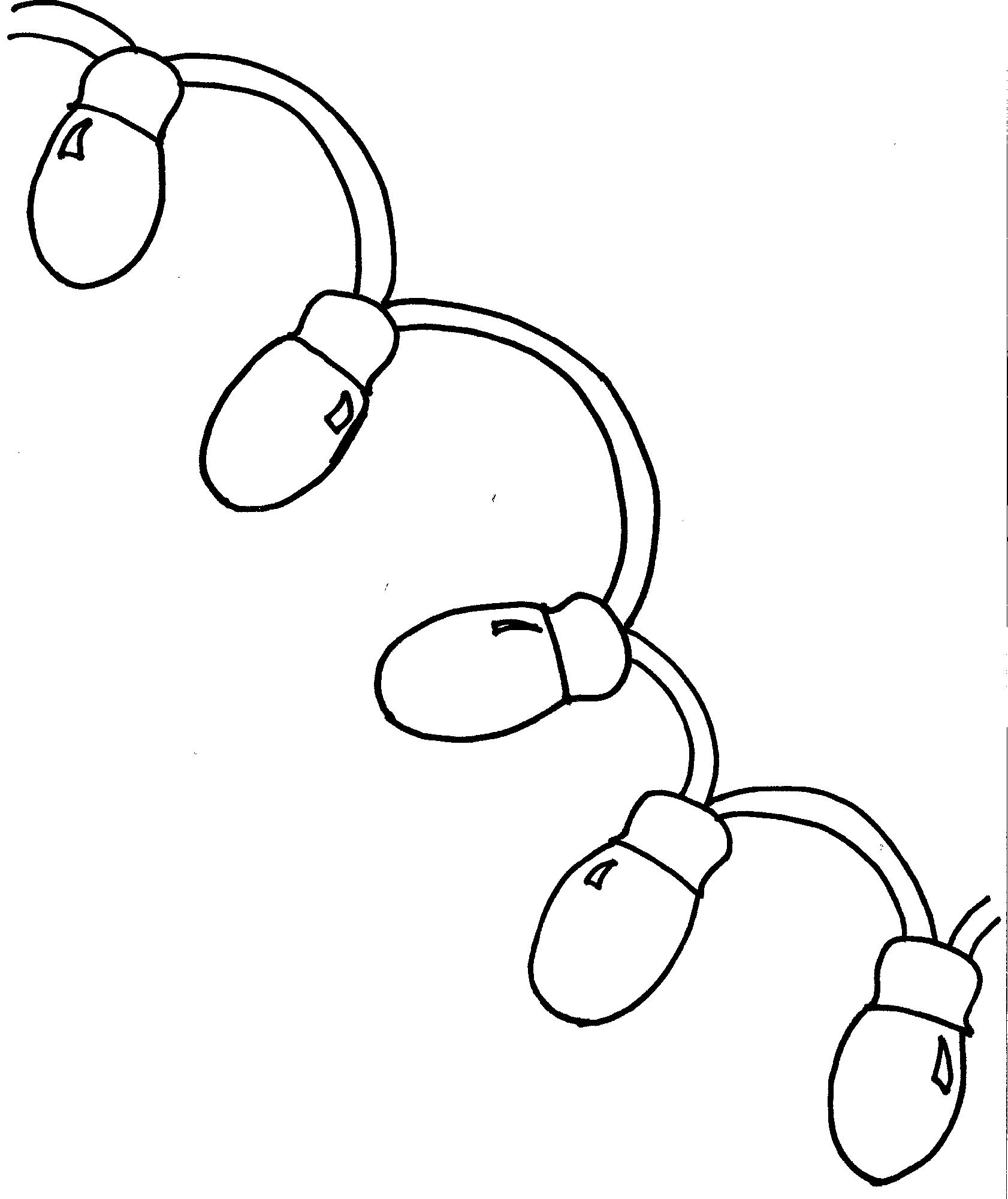 Christmas Lights Coloring Pages | Christmas lights, Best ...