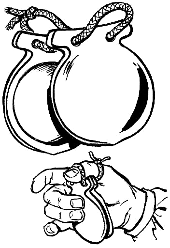 Castanet Coloring Page Which Shows How To Play It